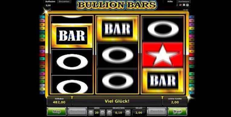 Der Spielstart von Bullion Bars