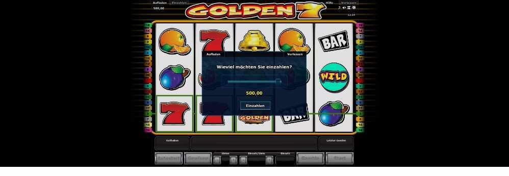 Golden 7 Einzahlung so geht es