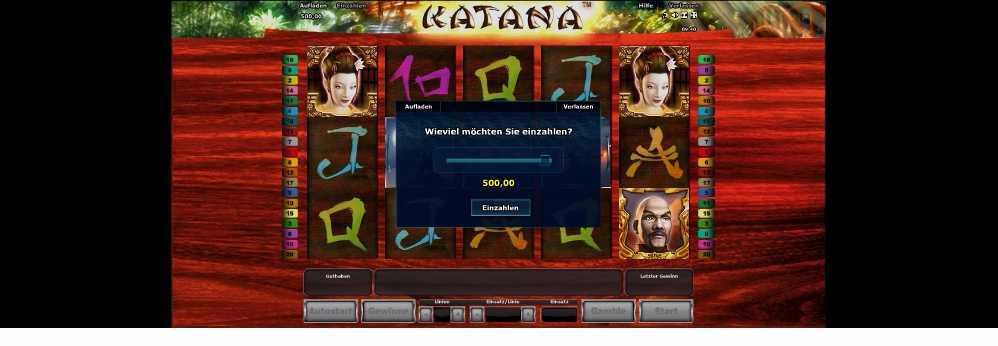 Katana Einzahlen
