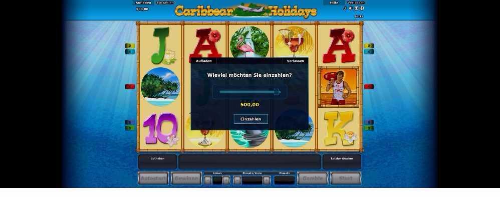 Caribbean Holidays die Einzahlung