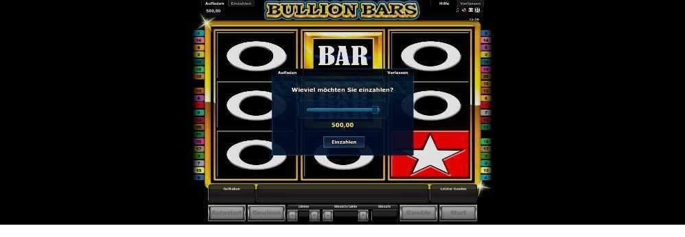 Einzahlen bei Bullion Bars