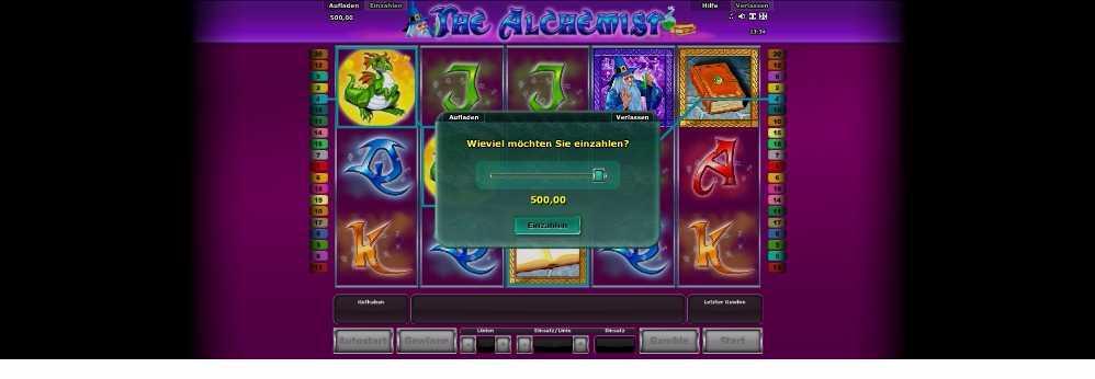 The Alchemist mache eine Einzahlung es ist sehr einfach
