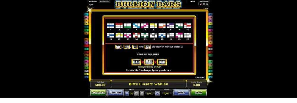 Feature Optionen bei Bullion Bars