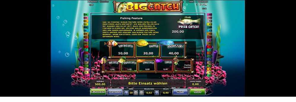 Spielfeature Big Catch