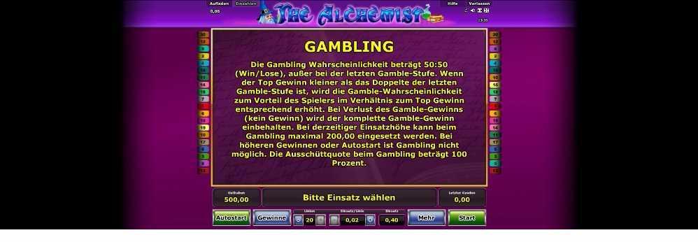 Gambling Funktion erklärt