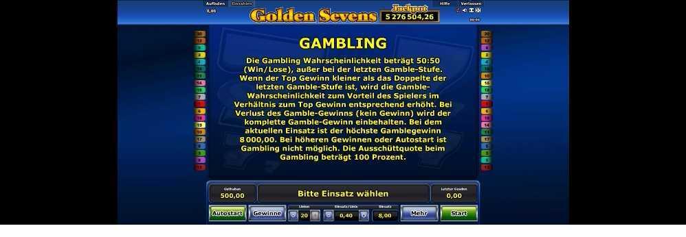 Golden Sevens Ganbling Chance