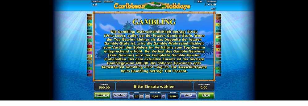 Gamble-erklärung Caribbean Holidays