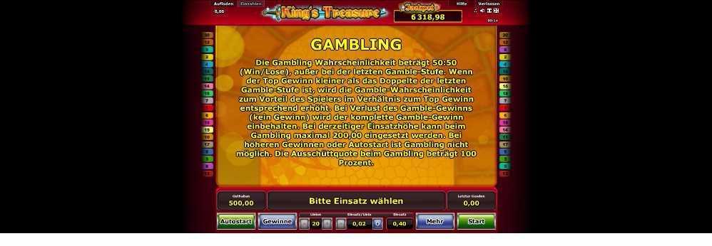 Erklärung der Gamblefunktion