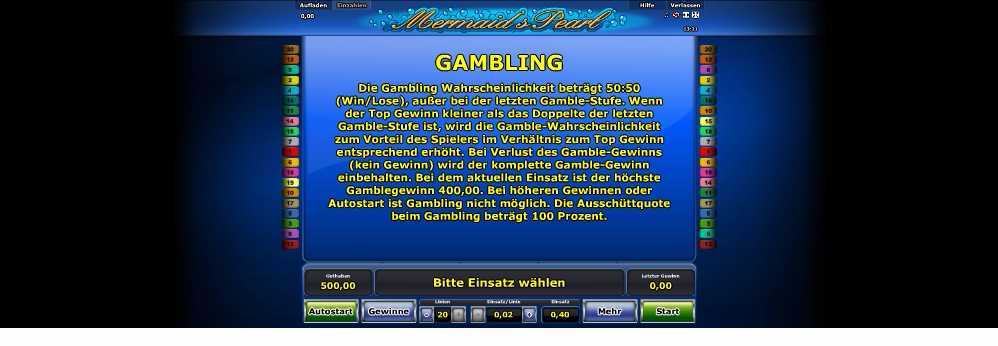 So funktioniert die Gamblingfunktion