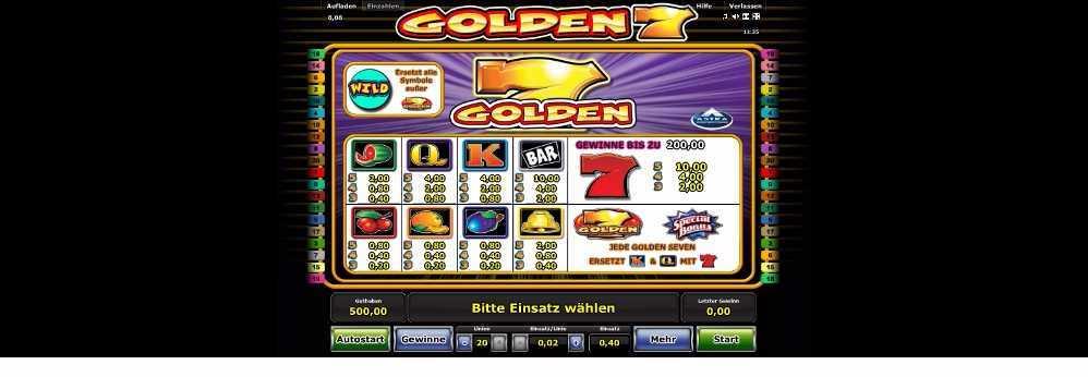 Golden 7 Gewinne was wird bezahlt