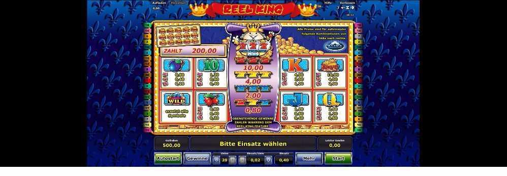 Reel King Gewinne