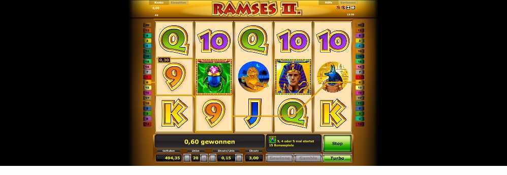 0,60 gewonnen auf Ramses II