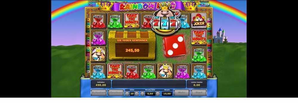 Ein Gewinn Rainbow King von 245,50