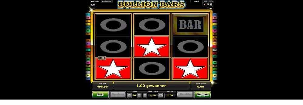 Bullion Bars ein Einzelgewinn