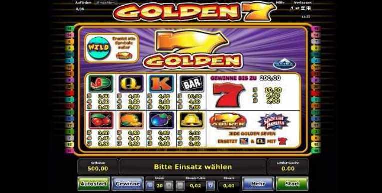 Golden 7 das Spiel startet