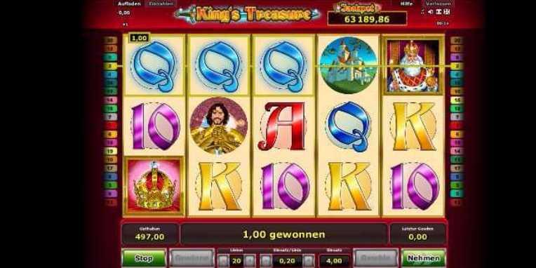 King's Treasure Spielstart