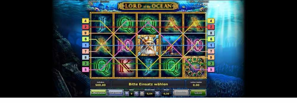 Gewinnlinien Lord of the Ocean