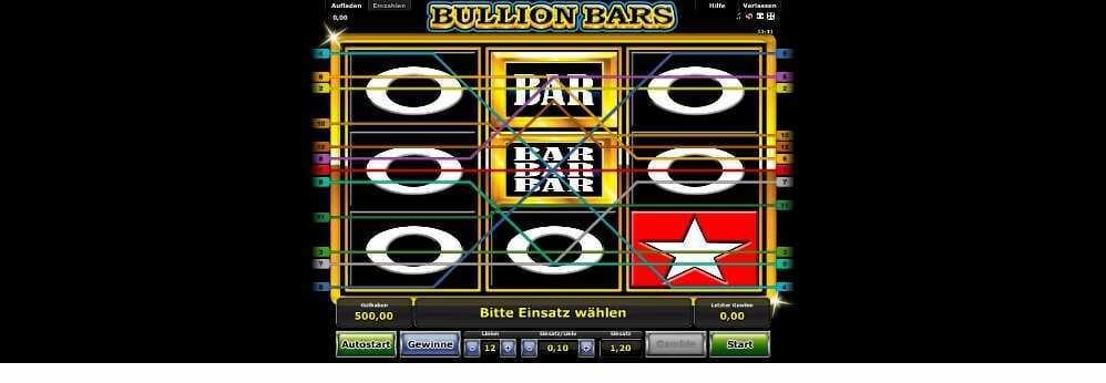 Gewinnlinien Aufbau Bullion Bars