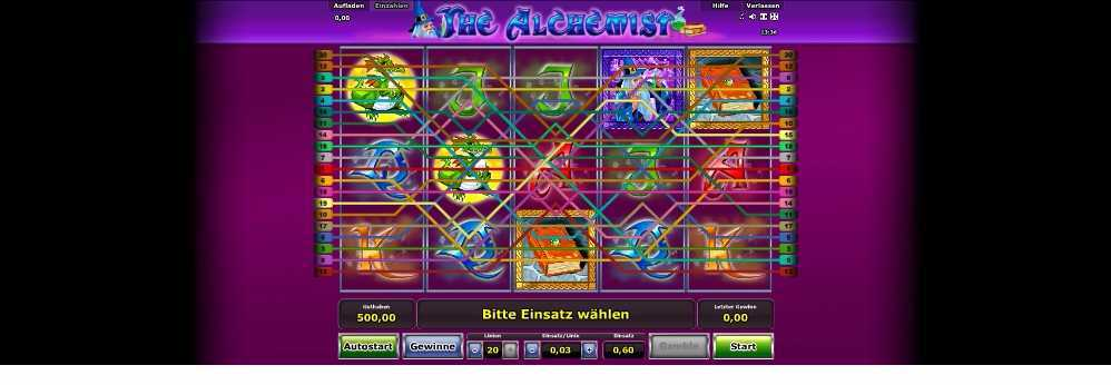 The Alchemist Gewinnlinien