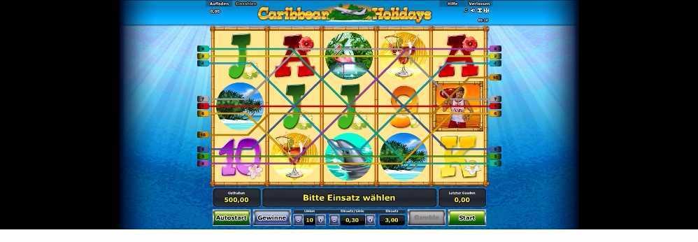 Gewinnlinien Caribbean Holidays