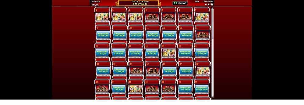 Spiellobby der eingang zum Spielautomaten