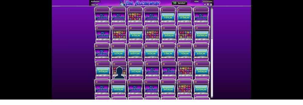 Eingang zum Spiel The Alchemist