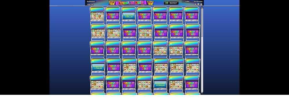 Rainbow King Spiel-Eingangs-Lobby