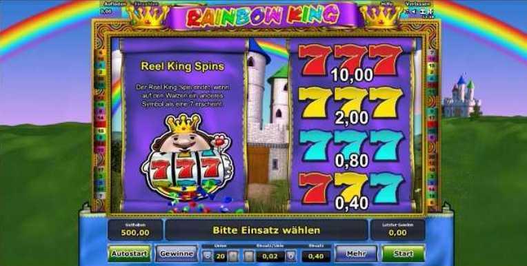 Rainbow King der Spielstart