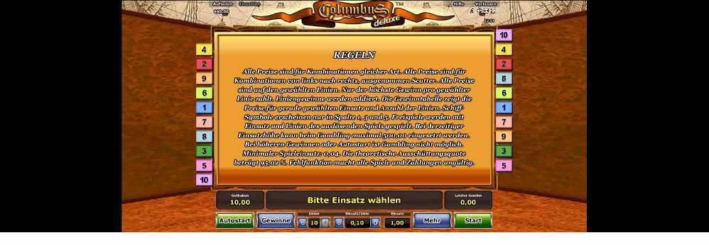 Spielregeln Columbus Deluxe