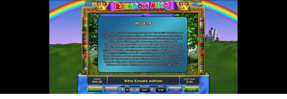Rainbow King hier kannst du die Regeln lesen