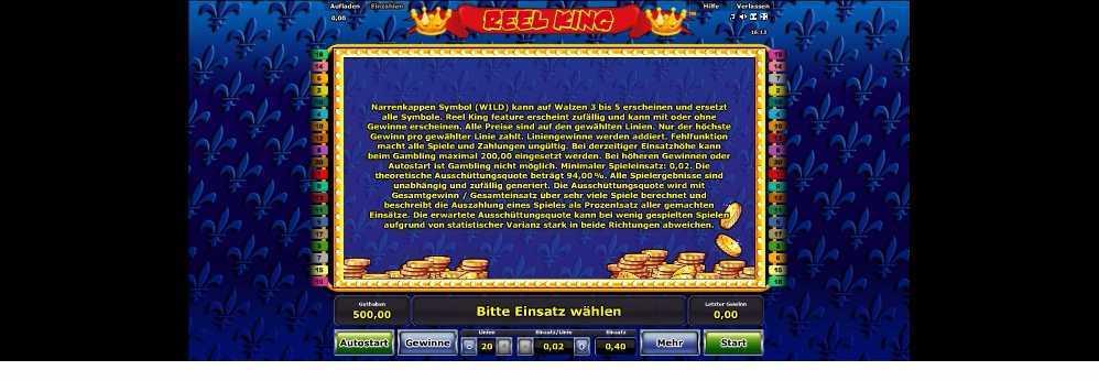 Reel King Regeln