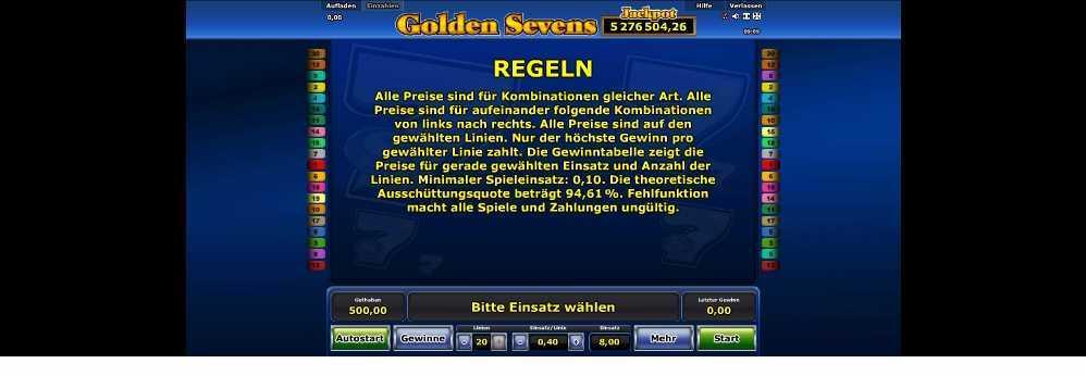 Golden Sevens Regeln