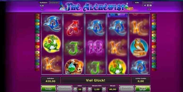 Spielstart bei The Alchemist
