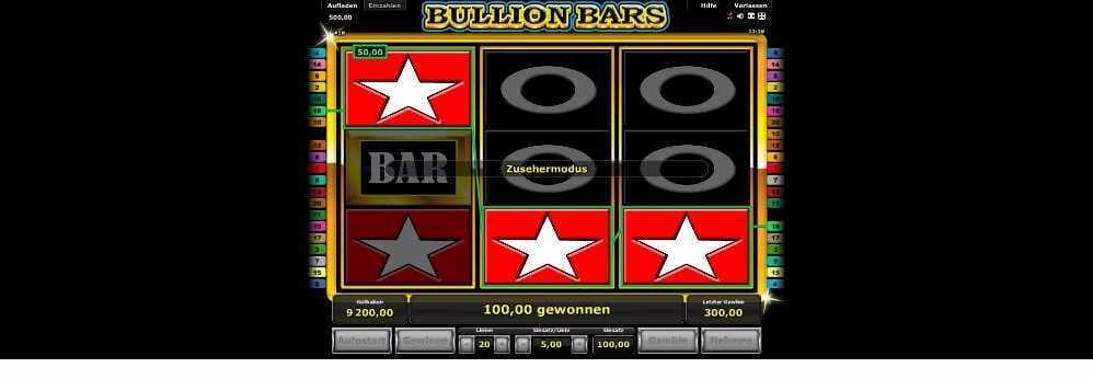 Bullion Bars Zusehermodus