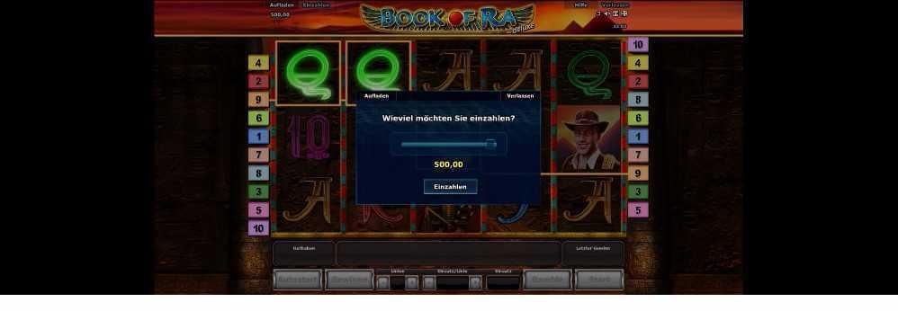 Einzahlung bei Bookofra
